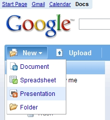 Google Presentations from File Manager