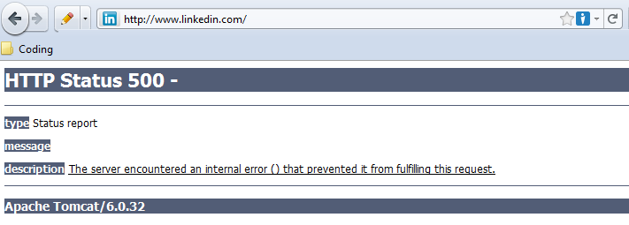 Linked-in down